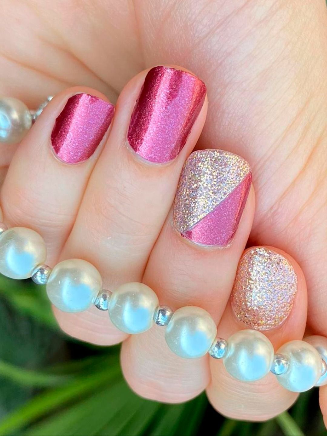 Try This Color Street Combo Which Consists Of How You Dune And Chelsea Ya Later Nail Strips Credit Shimme In 2020 Color Street Nails Color Street Cute Nail Colors