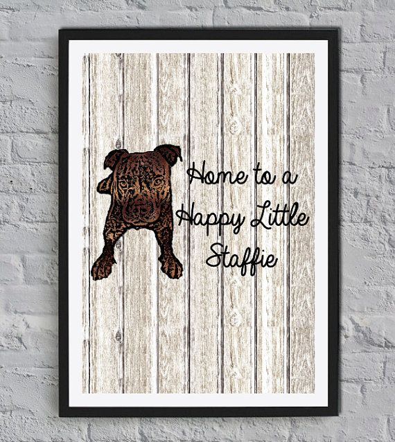 Home House Staffie Staffordshire Bull Terrier Sign ~ Dog Pet Puppy Kennel Staffy