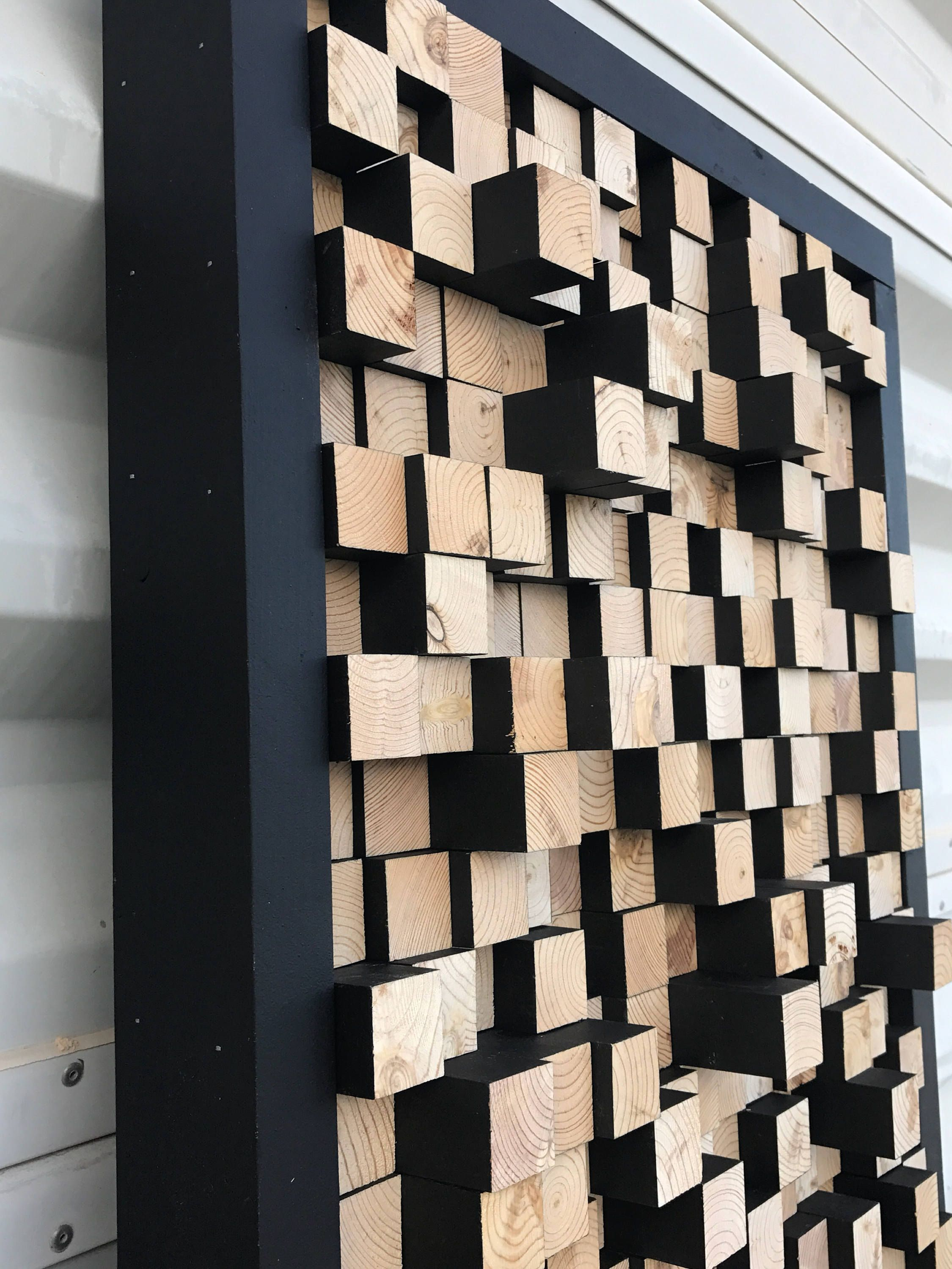 Studio Wooden Sound Diffuser Acoustic Panel Soundproofing Proof Pixel Art Multi Colored Wood Art 3d Art Wooden Art In 2021 Wooden Art Acoustic Panels Wood Art