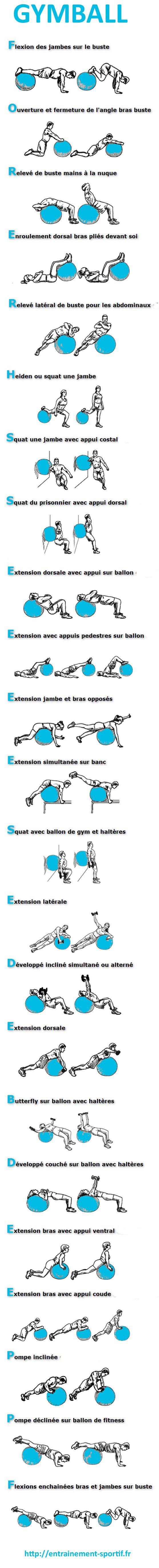 Fitness Illustration Description 23 Exercices De Musculation Avec Ballon De Gym Entrainement Spor Read Mo Easy Yoga Workouts Yoga Fitness Gym Ball