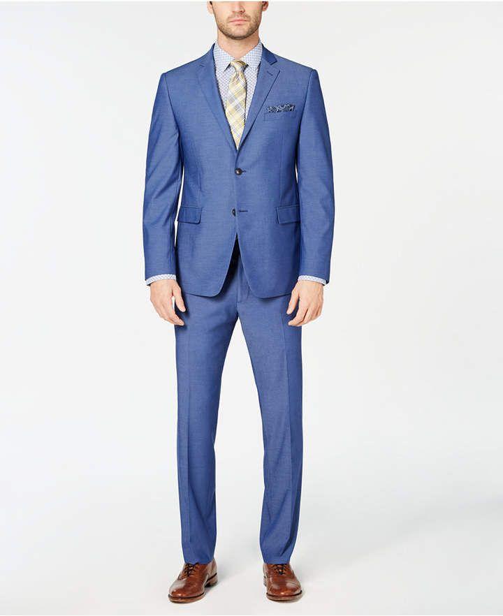 Perry Ellis Mens Slim Fit Stretch Wrinkle-Resistant Tuxedo Tuxedo