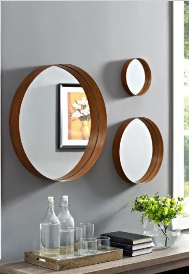 Mirror Wall Decor, How To Hang 3 Small Round Mirrors