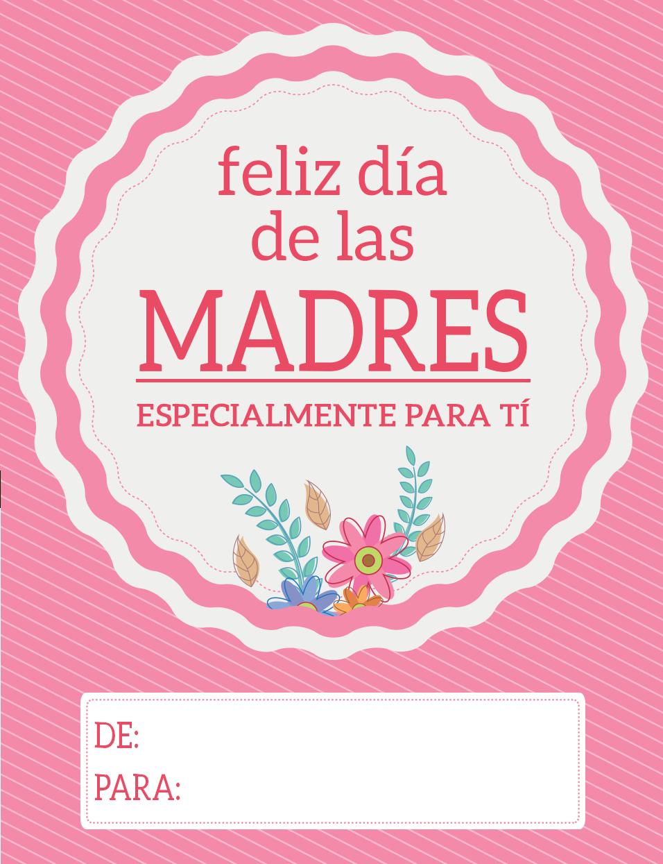 Mother Day Cards Mother S Day Psd Card Mama Mother S Day Card Spanish Text Card Motherboard Day Card Feliz Dia De La Madre Imprimibles Del Dia De