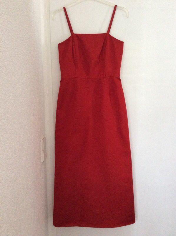 Tolles Jake´s Taftkleid / Cocktailkleid rot mit Trägern ...