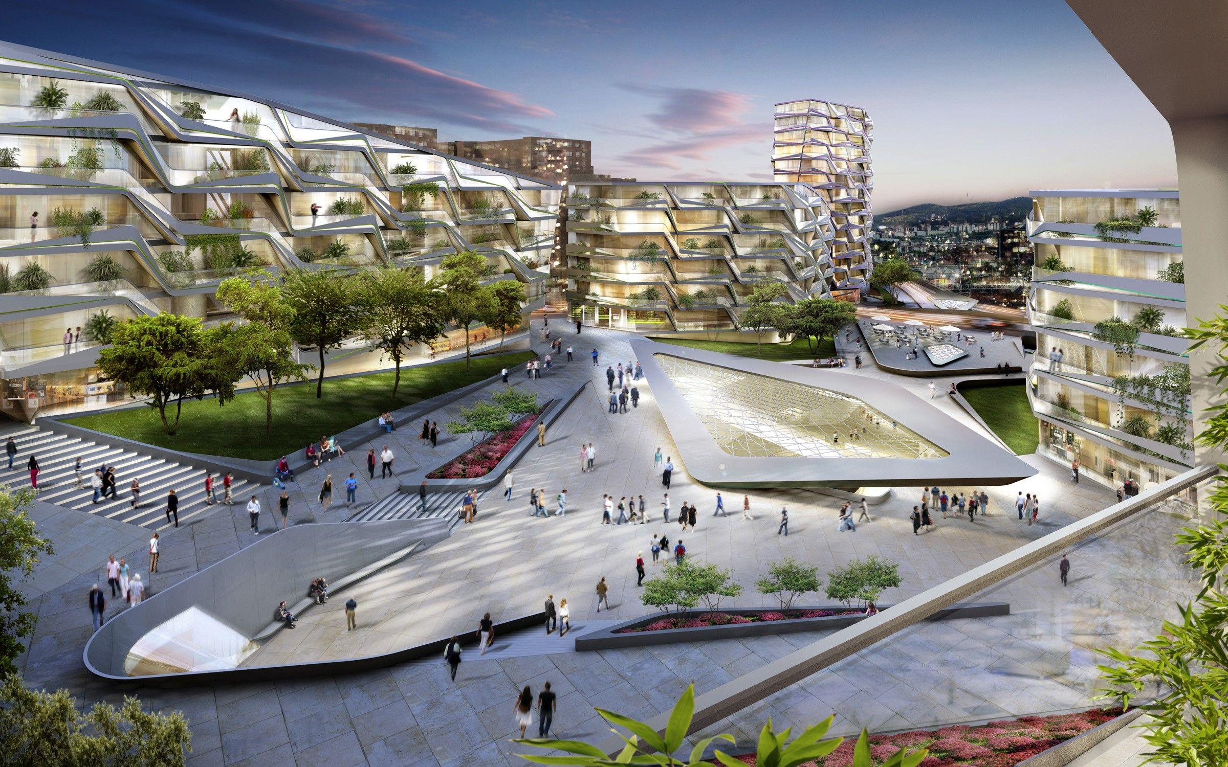 Masterplan and station area unstudio arquitectura for Arquitectura sustentable pdf
