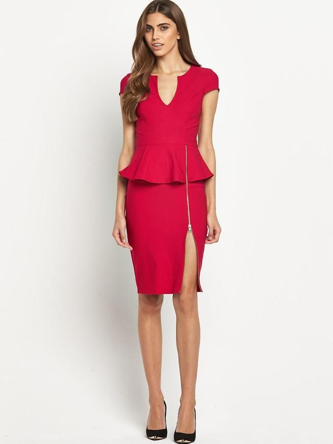 Lipsy Zip Detail Peplum Dress On Shopstyle Clothes I Want