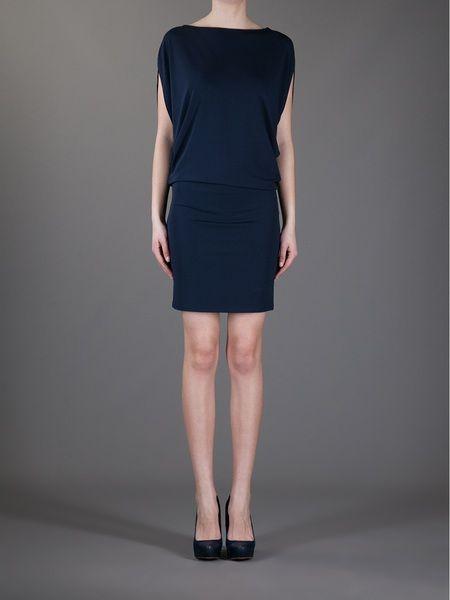 Michael Kors Buckle Fastening Dress in Blue (navy) - Lyst