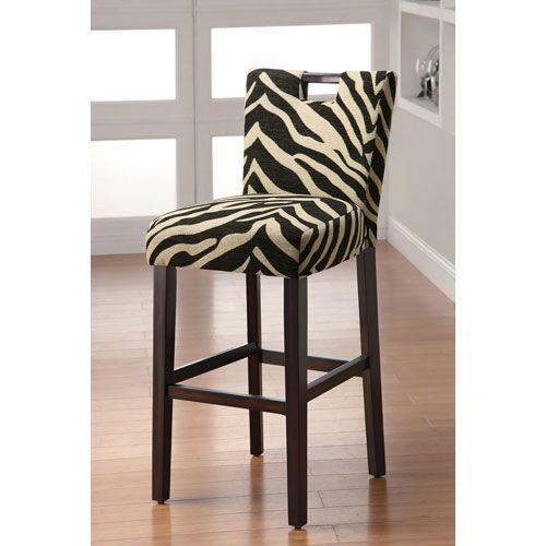 Zebra Print 29 Inch Upholstered Bar Stool All About The
