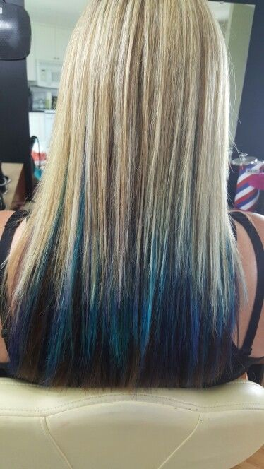 Chunky blonde highlights with blue turquoise and purple through chunky blonde highlights with blue turquoise and purple through it by jenns hair studio pmusecretfo Gallery