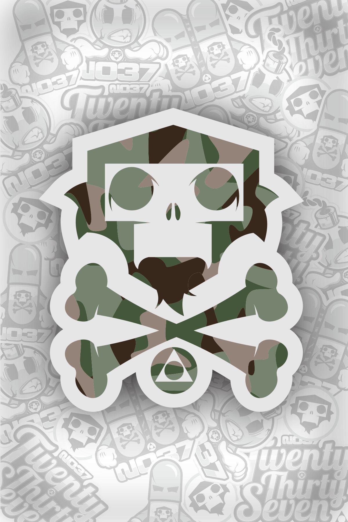 Camo Logo IG 2037_Designs 2037 camo crossbones army
