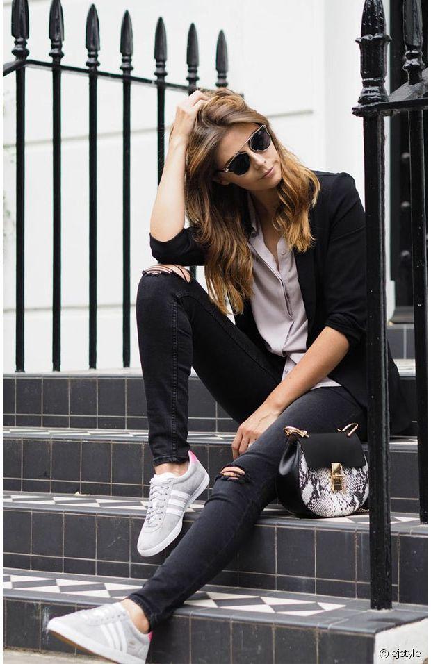 Streetstyle : 14 idées de looks avec la Gazelle d'Adidas