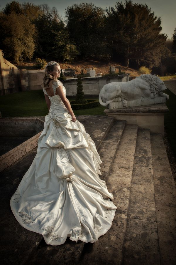 Nice photography of bridal gown.