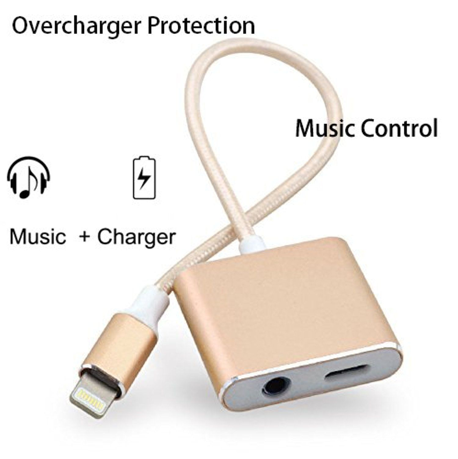 Overcharge Protection Lightning Adapter For Iphone 7 Fast Charger Up To 5v 2a And 3 5mm Earph Accessoires Iphone Accessoires Iphone 5s Accessoires De Telephone