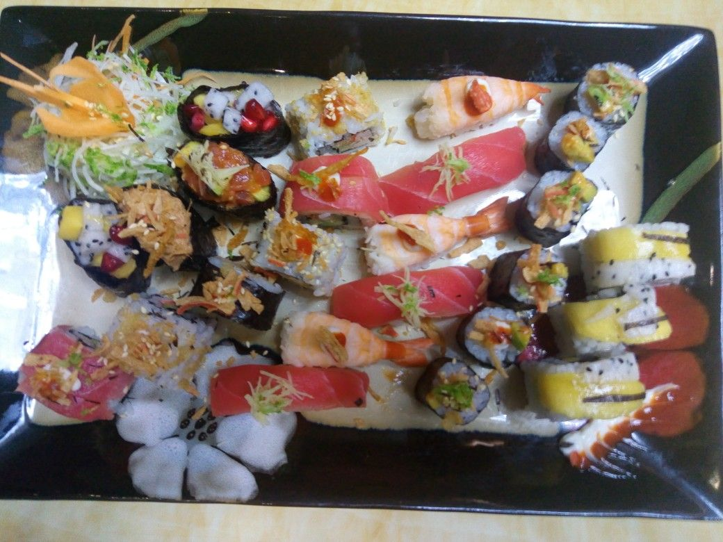 pin on mix sushi plater