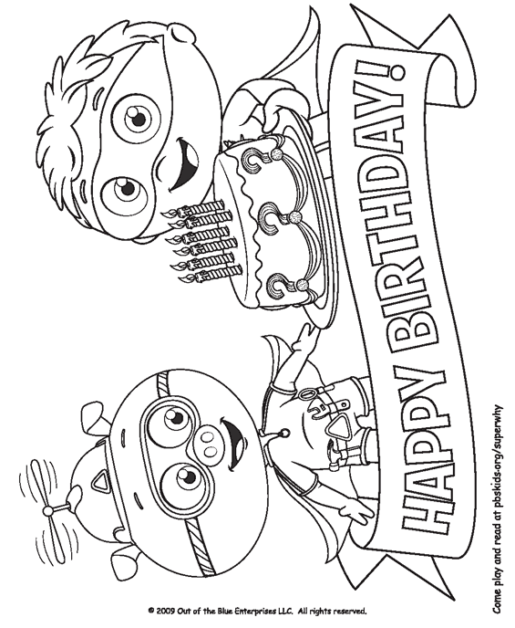 Super Why Coloring Pages . Birthday Party Ideas for Kids . PBS ...