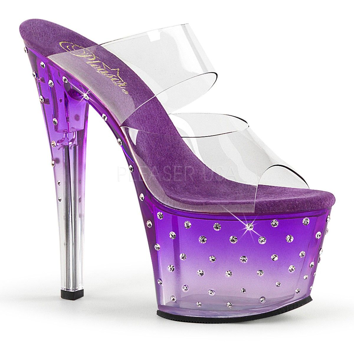 What Purple stripper shoes