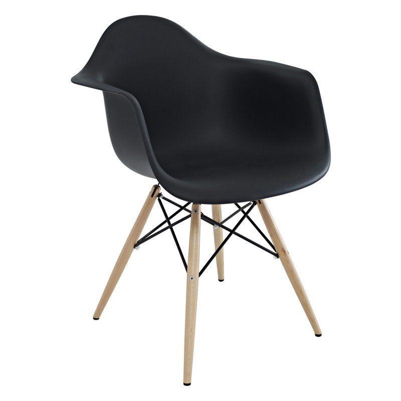 Modway Pyramid Dining Arm Chair Black - EEI-182-BLK