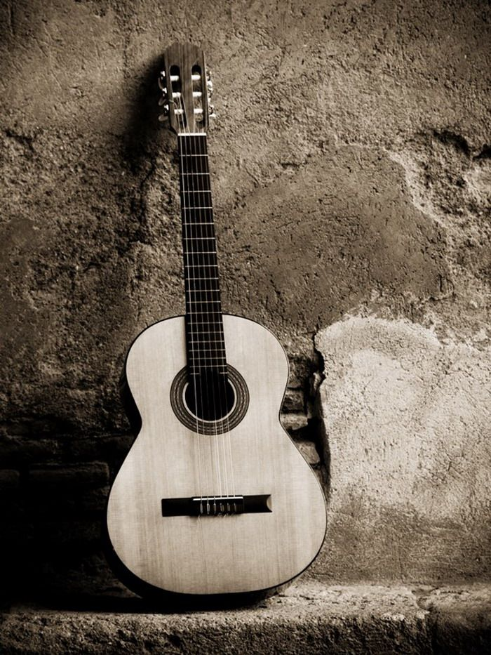 Classic Guitar On Wall Mural
