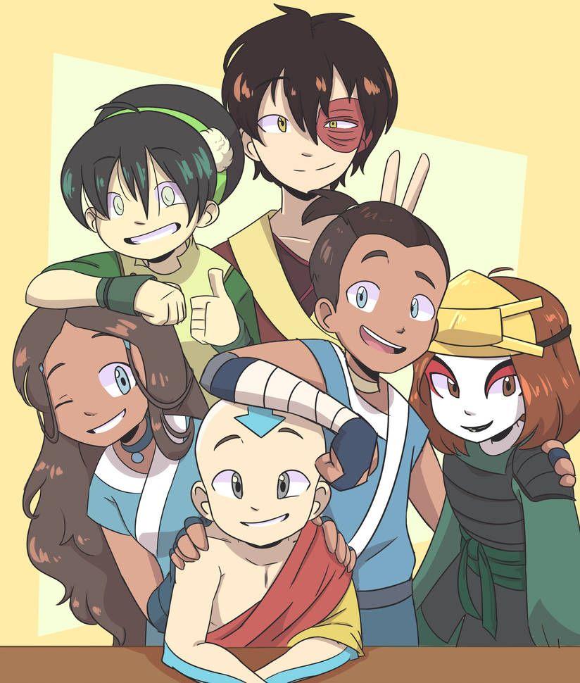 Team Avatar by DrawWhatYouLike on DeviantArt #avatarthelastairbender