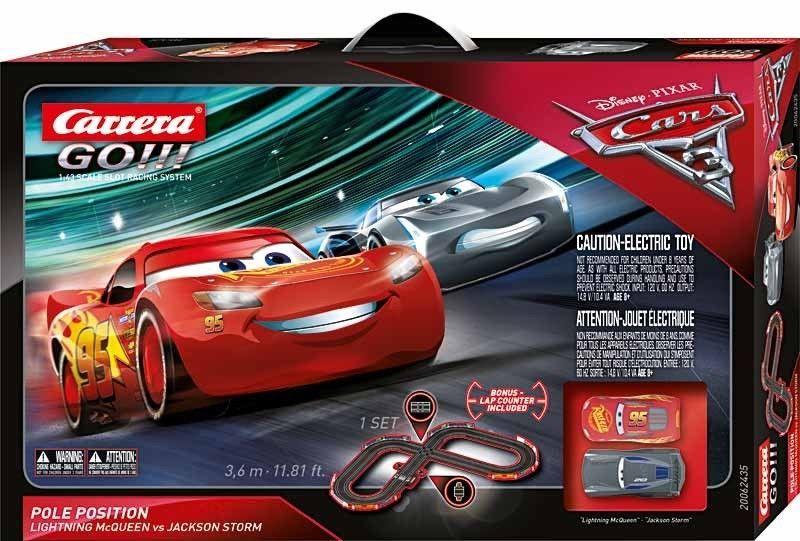 1970 Now 152936 Carrera Go Disney Pixar Cars Pole Position 1 43 Slot Car Race Set 62435 Buy It Now Onl Slot Car Sets Slot Car Racing Disney Pixar Cars