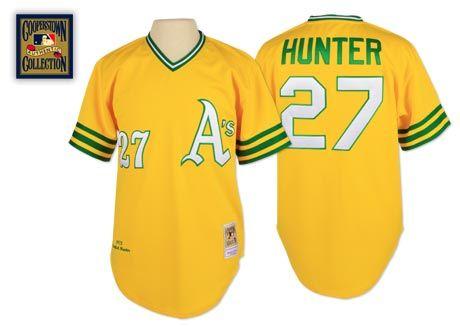 check out fdab4 f2a9f Oakland Athletics 1972 Alternate Jersey - Catfish Hunter ...