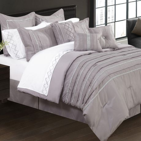 Safdie Co Home Deluxe Collection Taupe 100 Polyester Comforter