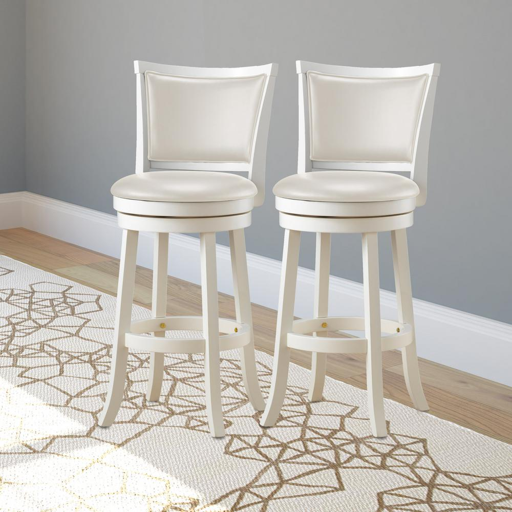 Corcovado White Leather Weave Bar Stool With Back Woven Bar