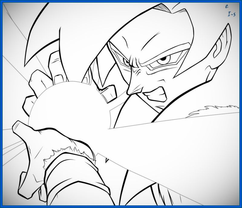 Dibujos para colorear de dragon ball z goku ssj4 | anime | Pinterest ...