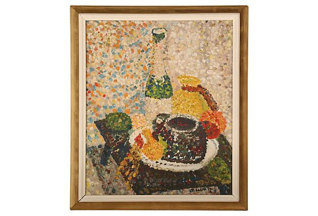 Still Life, 1963 on OneKingsLane.com. Original vintage art from Anna Hackathorn Interior Design.