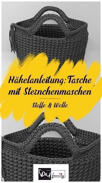 Photo of Tasche mit Sternchenmaschen – Häkelanleitung – DIY-Family #geschenkkorbideen …
