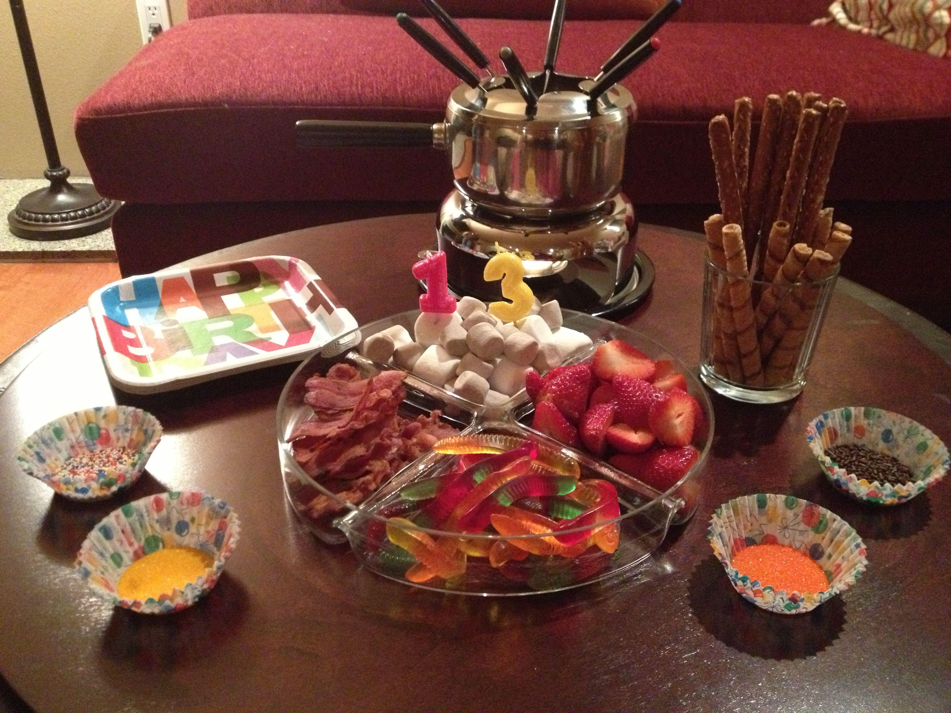 A Birthday Chocolate Fondue (Non)Party   Birthday chocolates ...