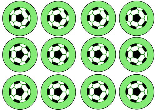 picture regarding Soccer Printable known as Printable Football Cupcake Toppers - Printable Snacks 40th