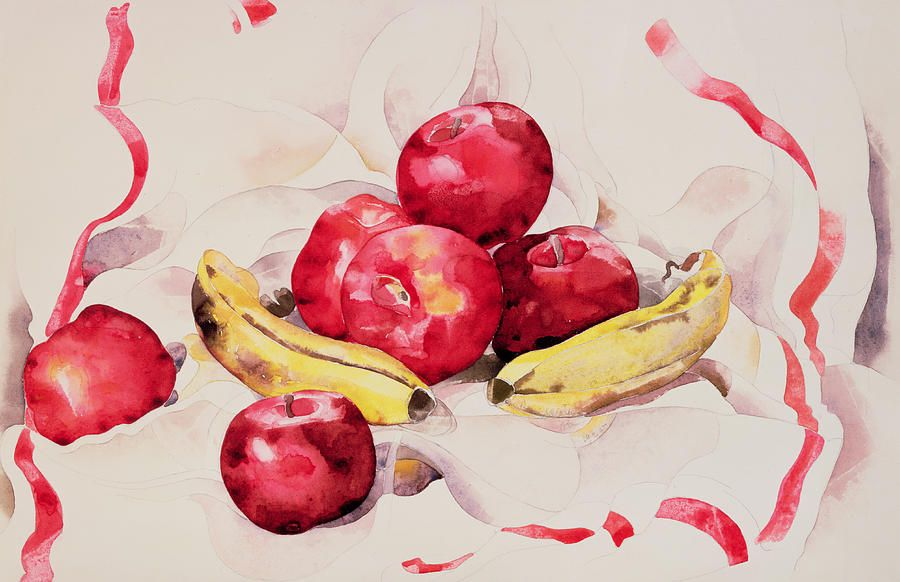 Still Life With Apples And Bananas Charles Demuth Still Life