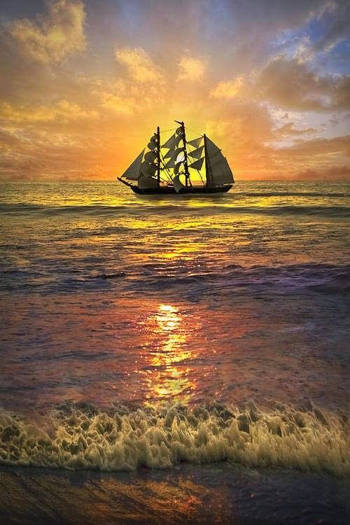 sailing ship sunset. You can now download my new personalized APP! Search like a Real Estate Pro with this free app. http://mobility.re/u/ABVxt/flhome78 or Text the KEYWORD FLHOME78 to the 5-digit phone number(Short Code) 32323.