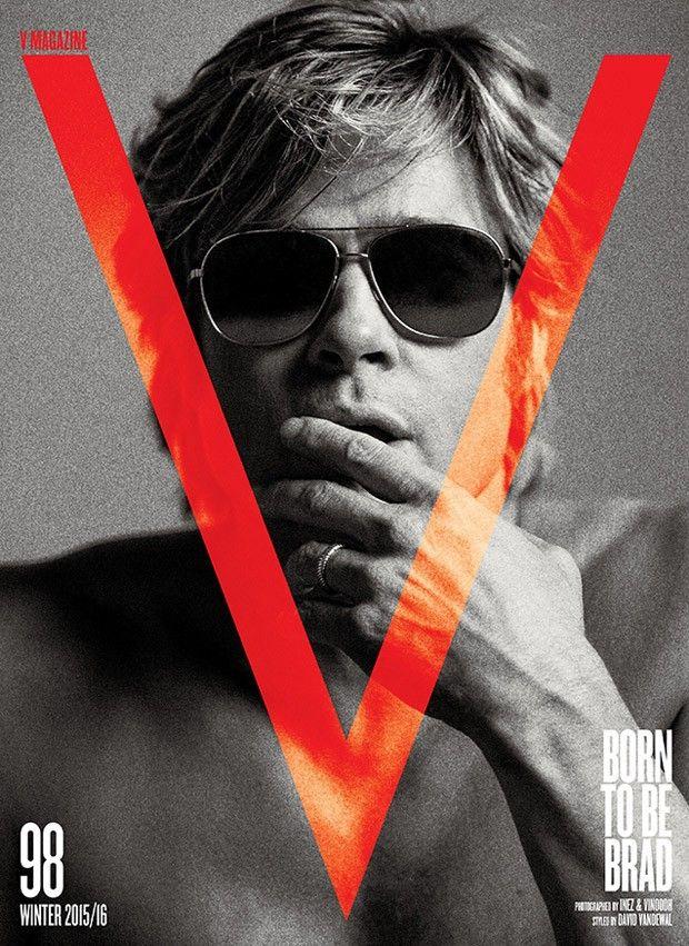 Brad Pitt for V Magazine by Inez and Vinoodh