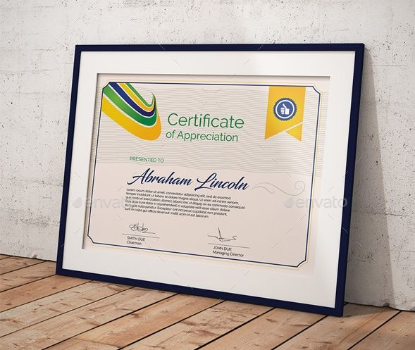 Layered certificate of appreciation template certificate of certificate of appreciation template psd ai pdf and eps format yelopaper Image collections