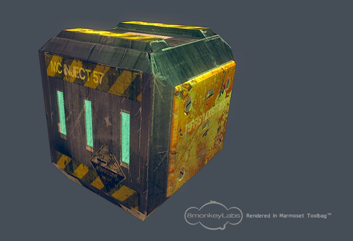 Inject 57 Crate - High Poly by teenagephoenix.deviantart.com on @deviantART
