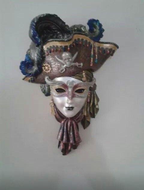 Polyester Alcidan Mask Boyama Heykel Maskeler Sanat