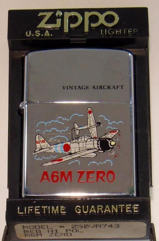 Vtg Zippo Lighter A6m Japanese Zero Wwii Military Aircraft Chrome Orgnl Package Zippo Lighter Zippo Lighter