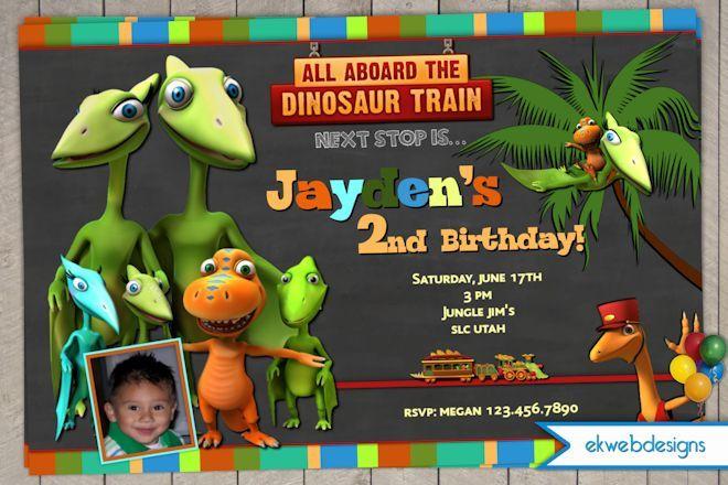 dinosaur train birthday invitations - dinosaur train digital, Birthday invitations