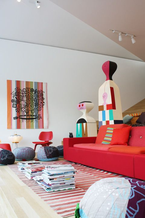 "Wooden Dolls"" by Alexander Girard in the Vitra Haus // Nina Reetzke"