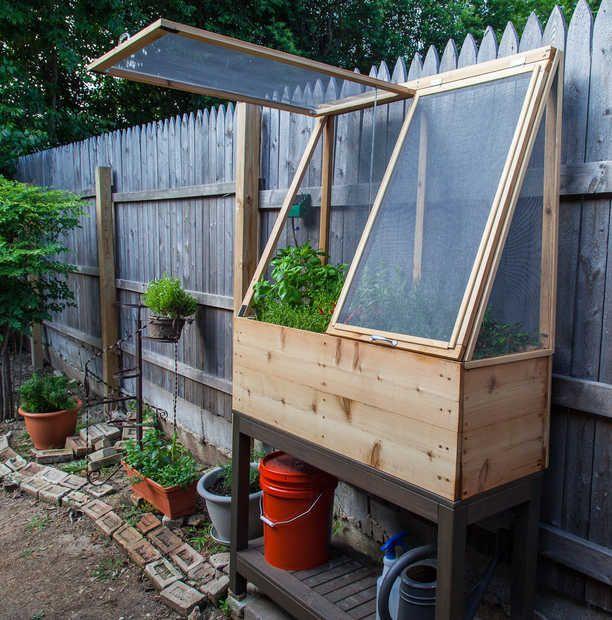 Mini serre pour tomates gardening pinterest jardins plates bandes sur lev es et - Serre pour tomates ...