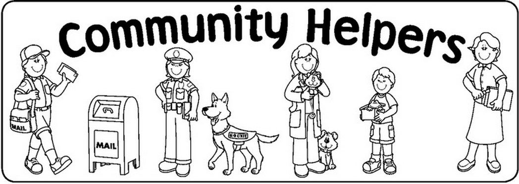 Community Helpers Coloring Pages Teacher Stuff 808680 Jpg 1048 372 Community Helpers Community Helpers Preschool Community Workers
