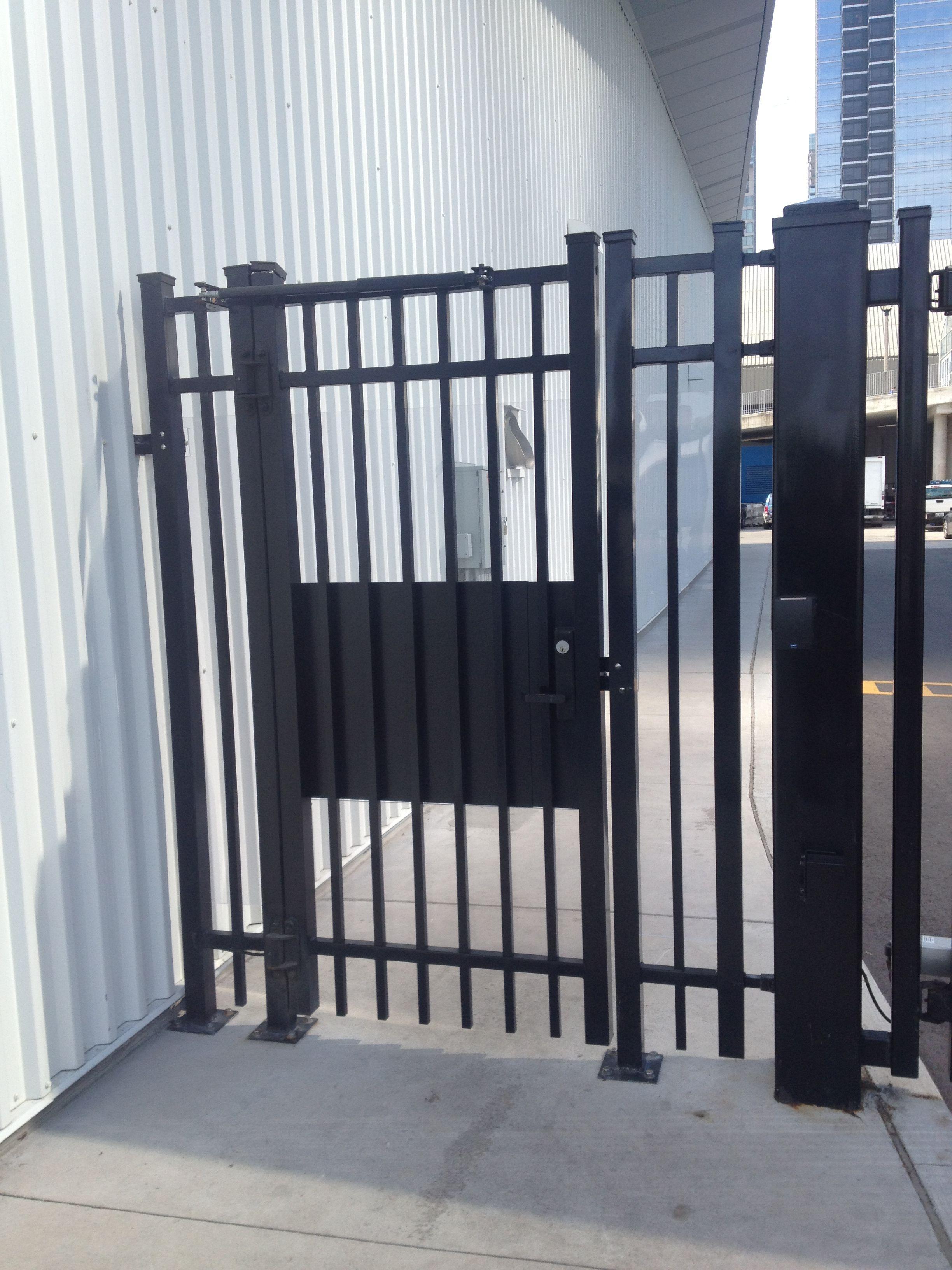 Panic Hardware With Security Lock And Hydraulic Closer Security Locks Gate Design Gate Locks
