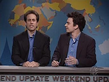 Saturday Night Live 25x01 Jerry Seinfeld David Bowie Sharetv Saturday Night Live Live Tv Show Jerry Seinfeld