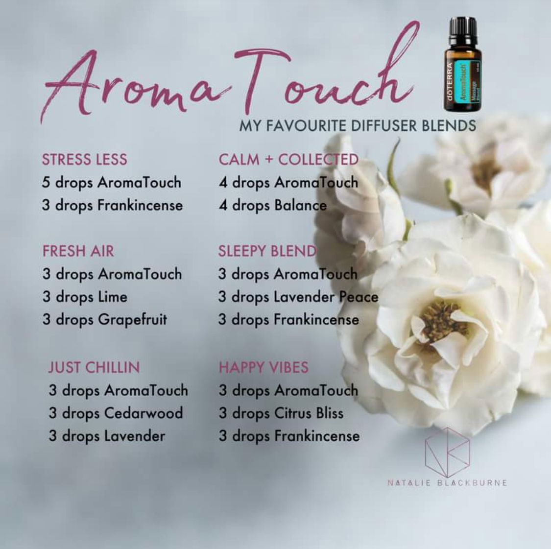 Aromatouch Blends Essential Oil Diffuser Recipes Essential Oil