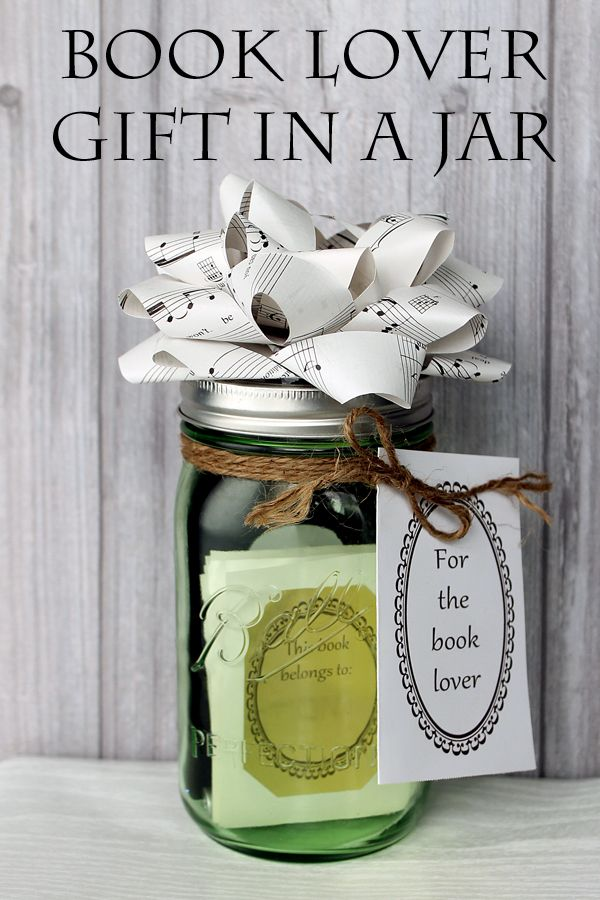 Book Lover Gift in a Jar | Book lovers gifts, Book lovers and ...