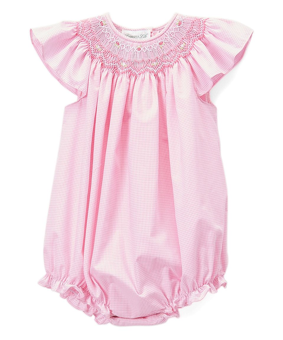 7533c5e6d Take a look at this Rosalina Pink Gingham Smocked Angel-Sleeve ...