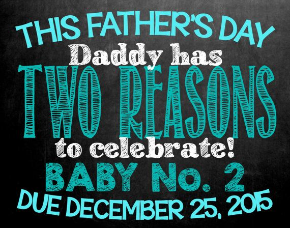 Farther's Day Themed Chalkboard Pregnancy By MMasonDesigns