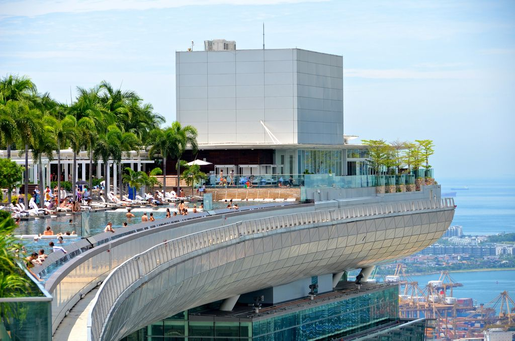 Wordless wednesdays 10 cool rooftop pools dream places pinterest rooftop pool sands for Hotel with swimming pool on roof singapore